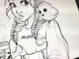 Drawing Of A Girl Looking Up Image Result for Cute Drawing Of Ray Looking at A Porg 3