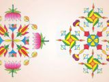 Drawing Of A Girl Making Rangoli Diwali Rangoli Designs 2018 Best Diwali Rangoli Images New