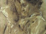 Drawing Of A Girl Reading Antonio Mancini Italian 1852 1930 Donna In Lettura Woman