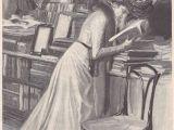 Drawing Of A Girl Reading Rene Reinicke 1860 1926 or Fliegende Blatter Band Cxiv Bild