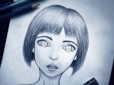 Drawing Of A Girl Realistic Semi Realistic Anime Girl Completed by S1rbrad3th On Deviantart