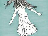 Drawing Of A Girl Running Girl Running Girl Art Prints Art Wall Art Decor