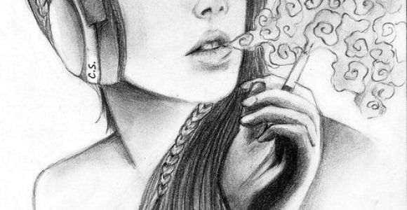 Drawing Of A Girl Smoking Weed Pin On Tattoo Weed Girl Smoking Drawing