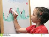 Drawing Of A Girl Studying Small Girl Drawing Stock Photo Image Of Teenager White 41987316