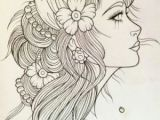 Drawing Of A Girl Tattoo Gypsy Girl Tattoo Sketch I Want to Rock Your Gypsy soul Van