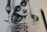 Drawing Of A Girl Tattoo Jason Minauro Skeleton Girl Creepy Tattoo Drawing Pencil