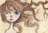 Drawing Of A Girl Under A Tree Water Girl Tree Girl by Rachael Treetalker Art Drawings
