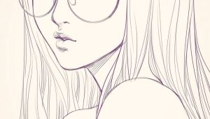 Drawing Of A Girl with Glasses Last Sketch Of Girl with Glasses Having Bad Backache It Hurts