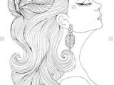 Drawing Of A Girl with Long Wavy Hair 267 Best Women to Color Images In 2019 Coloring Pages Coloring