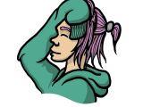 Drawing Of A Girl with Pink Hair Yuki 03 Girl Hoodie Pink Hair Smile Drawing Art Doodle