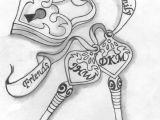Drawing Of A Heart Lock Heart Locket W Ribbon Tattoo Design by Push It Art Random