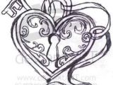 Drawing Of A Heart Lock Key to My Heart Next Tattoo Idea by Aline Tattoos