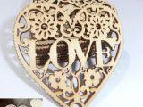 Drawing Of A Heart Locket Groa Handel Holz Perforiertes Diy Zubehor Liebe Auswendig Das