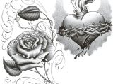 Drawing Of A Heart with A Rose Chicano Art Drawings Roses Chicano Rose Thugs Chica Tat by 2face