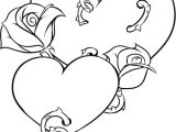 Drawing Of A Heart with A Rose Coloring Pages Of Roses and Hearts New Vases Flower Vase Coloring
