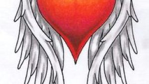 Drawing Of A Heart with Angel Wings 112 Best Angel Wing S Surrounding A Heart Memorial Tattoo S for My