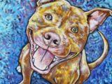 Drawing Of A Pitbull Dog Pitbull Art Pitbull Art Dog Art Art Dog Paintings