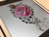 Drawing Of A Rose and Cross Rose Cross Tattoo Drawing Digital Zeichnungen Pinterest Tattoo