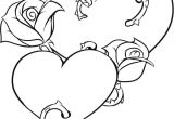 Drawing Of A Rose and Heart Coloring Pages Of Roses and Hearts New Vases Flower Vase Coloring