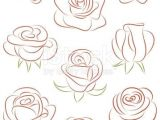 Drawing Of A Rose Petal Set Of Roses Vector Illustration In 2018 Favorite Pins Draw