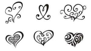 Drawing Of A Simple Heart Girly Tattoos Permanent Stamps Heart Tattoo Designs Tattoo