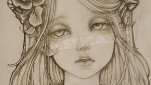 Drawing Of A Vampire Girl Pencil Drawingoftheday Beautiful Vampire Girl Dramatic Eyes