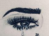 Drawing Of An Eye Pen Jz Drawing Teared Eye My Artwork In 2019 Pinterest Drawings