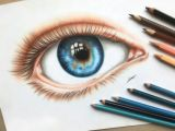 Drawing Of An Eye with Color An Eye Colored Pencil Drawing by Polaara Colored Pencil