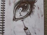 Drawing Of An Eye with Pen Needle In Eye Drawing Ballpoint Pen Horror Artsy In 2019