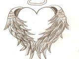 Drawing Of Angel Heart Angel Wings Tattoos Tattoos Tattoos Angel Tattoo Designs