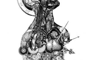 Drawing Of Artificial Heart Art Drawing Illustration Anatomy Skeleton Humanbody Man