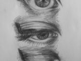 Drawing Of Ballerina In Eye Very Nice Skin Art Pinterest Drawings Art and Art Drawings