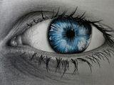 Drawing Of Blue Eye Pin Von Dieter Legenstein Auf Zeichnen Und Malen In 2018 Pinterest