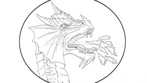 Drawing Of Dragons Black and White Dragon Fire Circle Drawing Vector Stock Illustration Drawing Sketch