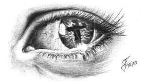 Drawing Of Eye Reflection Eye Tattoo with Cross Reflection Ink I Like Tattoos Religious