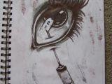 Drawing Of Eyes In Pen Needle In Eye Drawing Ballpoint Pen Horror Artsy In 2019