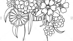 Drawing Of Flower Bucket Vector Bouquet Of Flowers In A Vase Art Draw Flowers and Plants