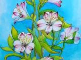Drawing Of Flower Painting 71 Best Flower Paintings Images Flower Drawings Painting Flowers