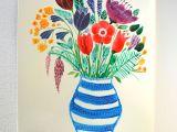 Drawing Of Flower Vase with Colour 20 top Paper Flower Vase Bogekompresorturkiye Com