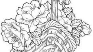 Drawing Of Flowers Basket Flower Basket Drawing Floweryweb Dibujos Varios Pinterest