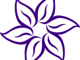 Drawing Of Flowers Cartoon Cartoon Flowers Clip Art Purple Flower Outline Clip Art Vector