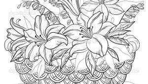 Drawing Of Flowers In Basket Flower Basket Drawing Floweryweb Dibujos Varios Pinterest