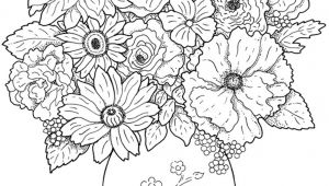 Drawing Of Flowers Pics Www Colouring Pages Aua Ergewohnliche Cool Vases Flower Vase Coloring