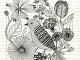 Drawing Of Flowers with Birds Pencil Sketch Of Bird and Flowers Food Drink that I Love