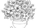 Drawing Of Flowers with Vase Cool Vases Flower Vase Coloring Page Pages Flowers In A top I 0d