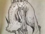 Drawing Of Girl and Wolf Bunny Girl and Wolf Chiara Bautista Drawings Art Illustration
