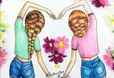 Drawing Of Girl Best Friends Pin by Laura Reiff On Cute In 2019 Bff Drawings Drawings Best