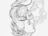 Drawing Of Girl Blowing Smoke Tattoo Weed Girl Smoking Drawing