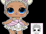 Drawing Of Girl Doll Flower Child Series 3 L O L Surprise Doll Coloring Page L O L