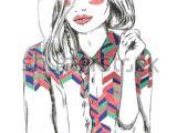 Drawing Of Girl Fashion Fashion Sketch Drawing Girl Stock Vector Patt Pinterest